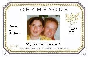 etiquette personnalise cuve du bonheur - Tiquette Personnalise Champagne Mariage